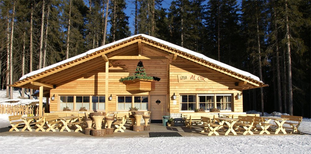 The ski lodge at Plan de Corones/ Dolomites
